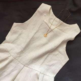 Animal Print White Dress