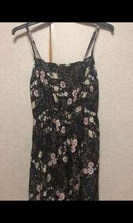 FLORAL BLACK MAXI DRESS