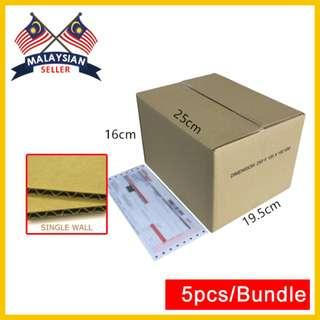 (250mm x 195mm x 160mm, Set of 5) Small Cardboard Shipping Box for Packing