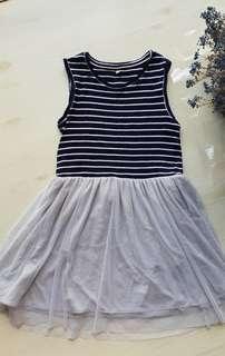 H&M girls chiffon dress