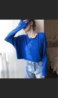 🚚 出清)藍色短板上衣