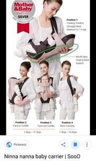 Combi ninna nanna 4 in 1 baby carrier