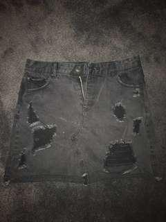 Black Ripped Skirt Size 12