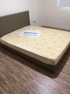 used queen size mattress n bed frame
