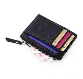 BN Slim Compact Faux Leather Wallet Purse Bifold with 6 Card Holder Slots