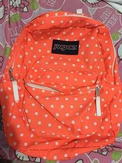 Jansport orange polka dots
