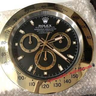 Rolex Daytona Gold Wall Clock