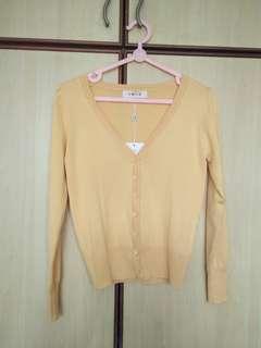 Mustard yellow cardigan BNWT