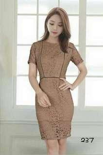 Lace body con dress bangkok