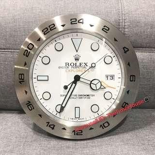 Rolex Explorer White Wall Clock