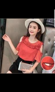 BN orange nursing blouse