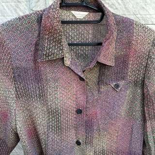 古著阿北迷樣ㄉ花紋襯衫 七分袖