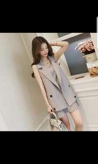 🚚 BN grey nursing dress with vest