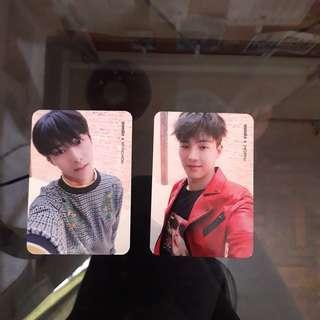 MONSTA X; Shine Forever Repackaged Album ㅡ Hyungwon & Shownu Photocards