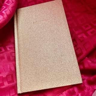 Kate Spade Glitter Journal - Gold