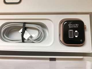 99%New Apple Watch S4 44mm GPS Gold Aluminum Case Pink Sport Loop