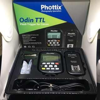 🚚 德國 Phottix Odin TTL for Canon 無線閃燈觸發器 2.4G 二手
