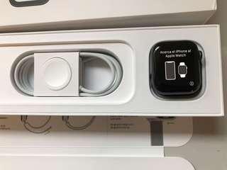 Brand new Apple Watch S4 40mm GPS Grey Alum Case Black Sport Loop