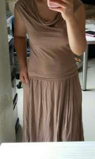 Dress coklat muda