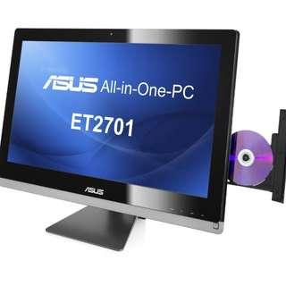 🚚 Refurbished Asus All-In-One ET 2701 INTI-B040K / Intel Core i7-3rd Gen / 6GB RAM / 2TB HDD / Nvidia 640M
