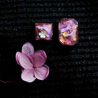 【十里春風】櫻花 耳環 Earings Emma Tam Accessories Sakura 情人節 婚禮 新娘 耳環