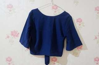 Blouse Croptee Navy
