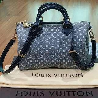 Authentic Louis Vuitton Encre Idylle Monogram Speedy Bandouliere 30