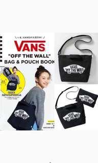Vans 雜誌袋 tote bag+pouch兩件裝