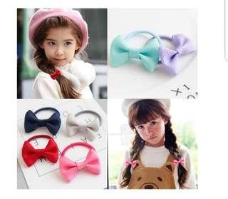 🚚 ($1.2/pair)Girl Ribbon Hair Tie