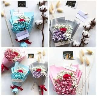 VDAY Fresh flowers real flowers bouquet baby's breath bouquet