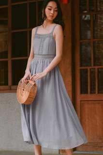 Fashmob Sonya Appliqué Maxi Dress in Moonstone