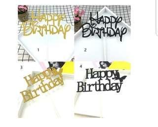 🚚 (3 for $5) Happy Birthday Cake Topper