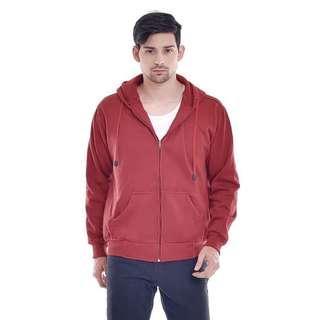 Jaket hoodie pria