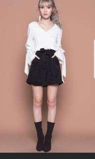 🚚 YHF Paper Bag Shorts in Black
