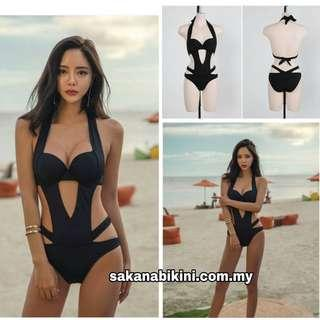 One piece hollow out push up swimsuit