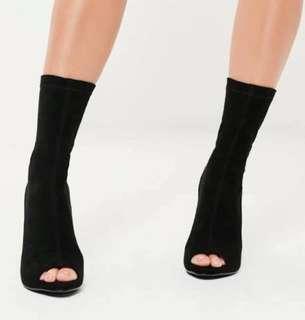 sock black heels
