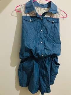 🚚 藍色連身褲