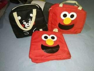 Kumamon and Elmo Insulated Lunch Bag