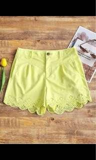 High Waisted Faux Suede Short