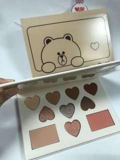 Missha x Line color filter shadow palette 啡色係眼影盤