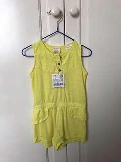 Zara BabyGirl Yellow Jumpsuit