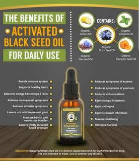 ACTIVATED BLACK SEED OIL For Eczema and Psoriasis