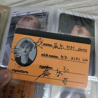 WTT Official Chenle NCT Dream We Go Up crew card
