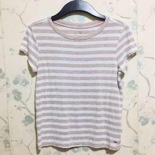 American Eagle Pastel pink stripes