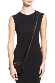 Authentic Marc Jacobs Gotham Black Leather Wallet Crossbody Bag