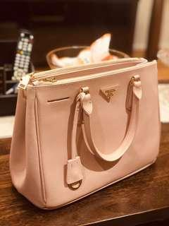 Prada Saffiano Large Pink Leather Tote