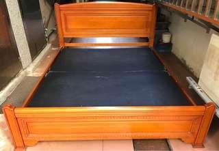 實木5*6.2標準雙人床架