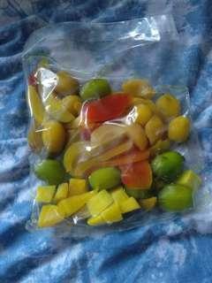 🚚 marinated fruit slices