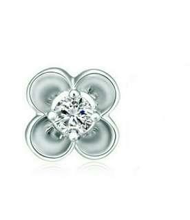 情人節首選-周大福單隻鑽石耳環