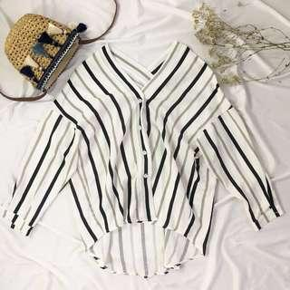 Candy V Neck long sleeves blouse